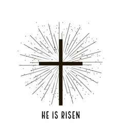 christ is risen stylish design vector image
