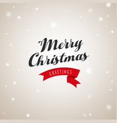 Christmas greetings with merry christmas text and vector