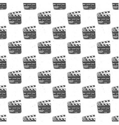 clapperboard seamless pattern vintage handdrawn vector image