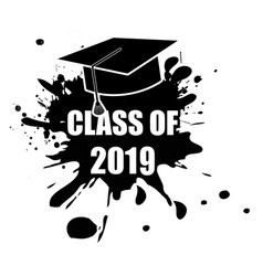 class 2018 stamp vector image