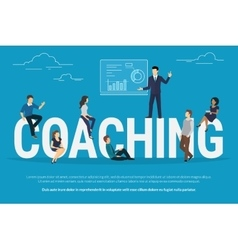 Coaching concept vector