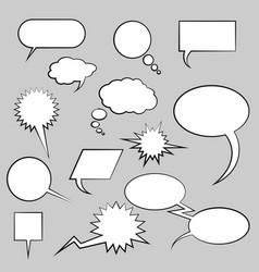 Comic cloud set vector