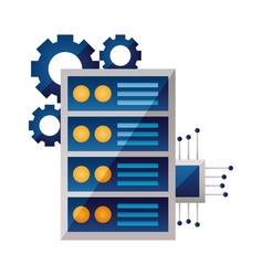 computer case motherboard circuit gears vector image