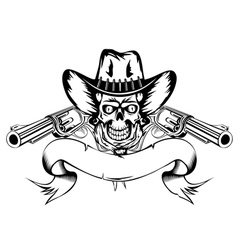 cowboy with revolvers vector image