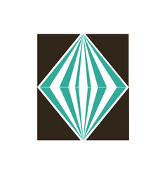 crystal logo vector image