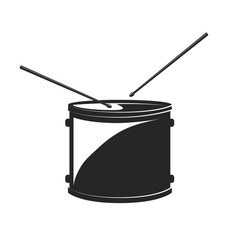 drum with drumsticks isolated vector image