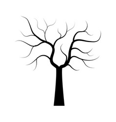 dry tree icon on white background vector image