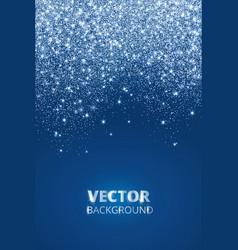 falling glitter confetti snow dust vector image