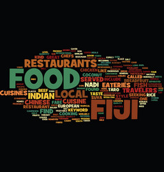 Fiji food text background word cloud concept vector
