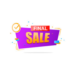 final sale banner design vector image