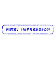 First impression rubber stamp vector
