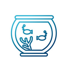 fishes in bowl vector image