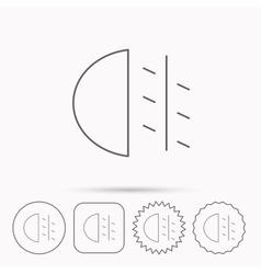 Fog lights icon Car beam sign vector image