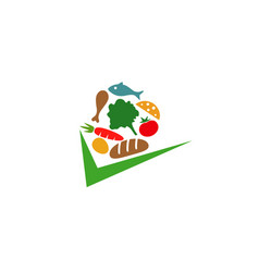 food check logo vector image