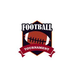 football logo design vector image