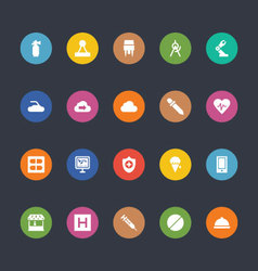 Glyphs Colored Icons 33 vector