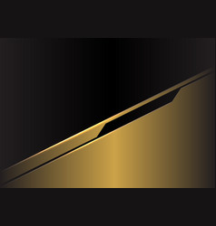 gold metallic futuristic with black blank space vector image