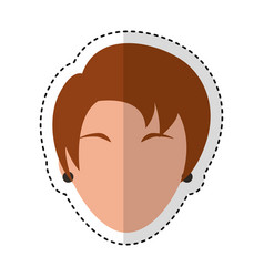 head woman character icon vector image