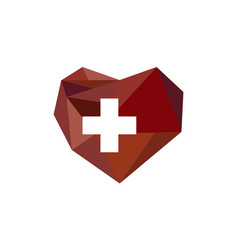 heart diamond health vector image