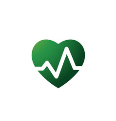 heartbeat heart beat pulse flat icon for medical vector image