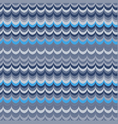 Ikat wave blue seamless pattern vector