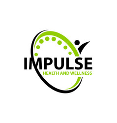 Impulse health and wellness vector