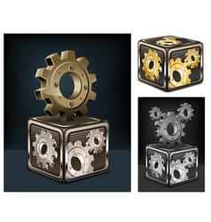 industrial gears vector image