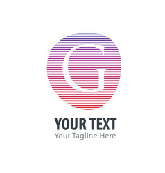 initial letter g abstract line logo style vector image