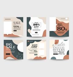 Instagram design template 01 vector