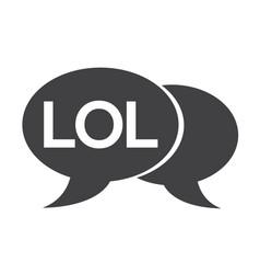 Internet acronym chat bubble vector