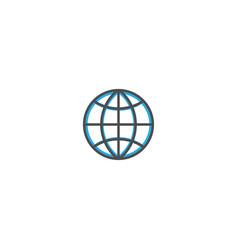 internet icon design essential icon vector image