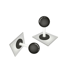 Joystick or Control Column on White Background vector image