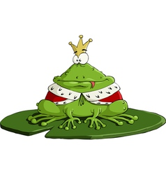 king frog vector image