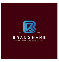 Letter r colorful logo design vector