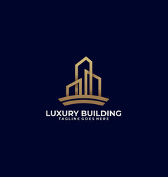 luxury building template vector image
