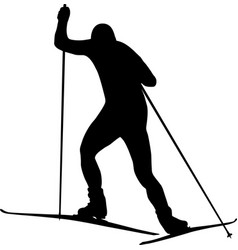 Man athlete skier vector