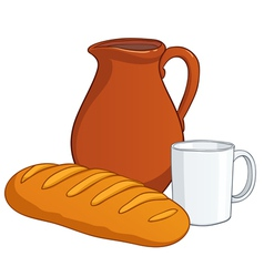 Milk bread vector