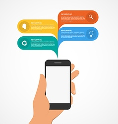 Modern design infographic with mobile phone vector image