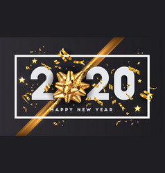 modern greeting happy new year 2020 vector image