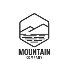 mountain graphic design template vector image