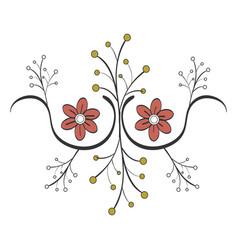 Naturals flowers tattoos vector