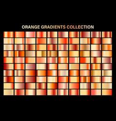 Orange glossy gradient metal foil texture color vector
