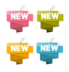 Paper New Tags Set Labels Isolated on White vector