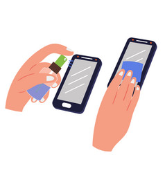 Phone disinfection against viruses vector