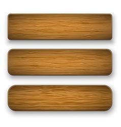 Plate wood vector