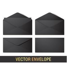 realistic black envelope mockups vector image