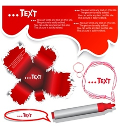Red bubble for speech vector