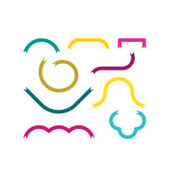 ribbon set collection design elements vector image