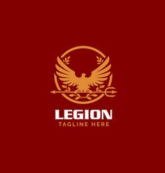 roman legionnaire eagle symbol vector image