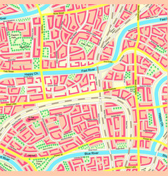 Seamless map unknown city with names vector